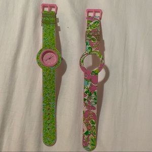 Used Rubber Lilly Pulitzer Analog Watch w 2 Bands